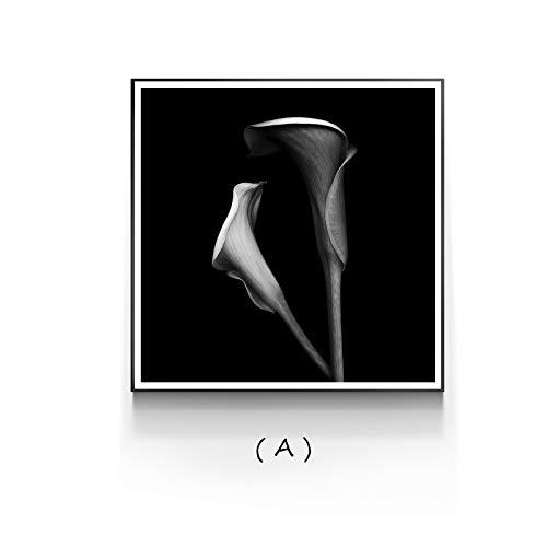zxddzl Tulip Calla Leinwand Malerei Poster Print Wandkunst Bild für Wohnzimmer Schlafzimmer Modern Decor 4 60 * 60 -