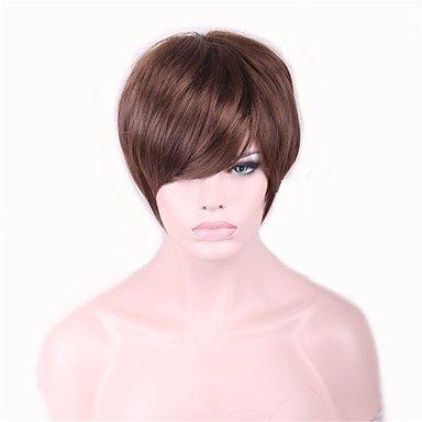 Meylee Parrucche DFGM marrone Perucas breve Pelucas parrucca per le donne nere sesso prodotti capelli sintetici parrucche Perruque Hair Styles