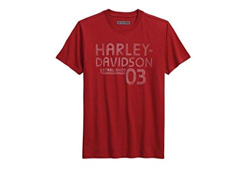 HARLEY-DAVIDSON Established 03 Slim Fit Tee T-Shirt, 96228-18VM, XXL-Slim