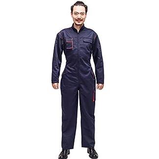 Oraunent Uniforme de Trabajo Profesional Monos Onesies Top Manga Larga con Pantalones de Trabajo para Hombres y Mujeres con Bolsillos para Mecánico