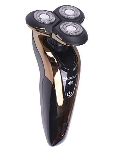 Maquinilla de Afeitar Electrica Afeitadora Barba Resistente al Agua Tres  cabezas Giratoria Impermeable Carga USB ade9170920eb