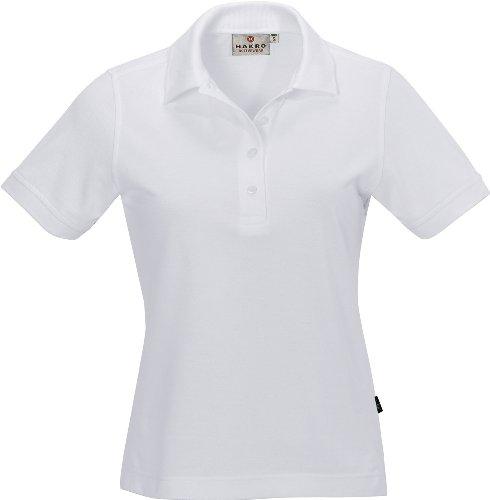 HAKRO Damen Polo-Shirt Performance - 216 - weiß - Größe: L