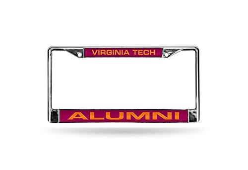 NCAA Virginia Tech Hokies Laser Cut Chrome Platte Rahmen, Silber/Rot, 30,5x 15,2cm Cut In China-platten