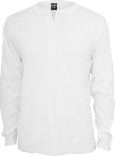 Urban Classics Herren Langarmshirt Weiß - Weiß
