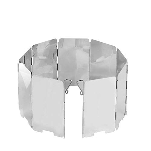 Lp-gas-Öfen (ZWGYQ Windschutzscheibe, Aluminiumlegierung, faltbar, Aluminiumlegierung, 9 Stück)