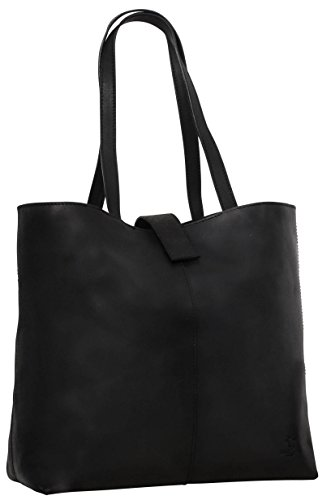 "- 31lJhq6wQRL - Gusti leder studio ""Alexandra"" Genuine Leather Ladies Shoulder Shopper Tote Handbag 15″ MacBook Laptop Casual Smart Vintage Accessory Black 2H52-33-7"