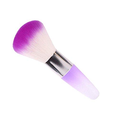 Fête des Mères Grosses Soldes!!! ❤️ ♬♬ ❤️ LMMVP Brosse Nettoyante Légale pour Ongles Enlever la Poudre de Poussière Pour Les Ongles Acryliques (1 Pcs, violet)