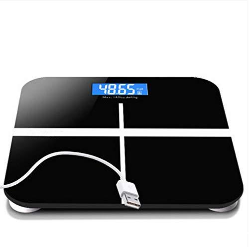 USB-elektronische Skalen, wieder aufladbare Gewichts-Skalen, Haushalts-Erwachsen-Gesundheits-Test-Skalen, genaue Gewichts-Skala, Gewichts-Verlust-Zählwerk (Color : C, Style : Battery version)