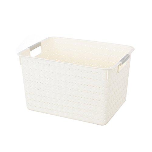Storage basket Best Wishes Shop cestello portaoggetti- Cassette portaoggetti da Cucina in plastica da Cucina con Cesto (Dimensioni : Medio)