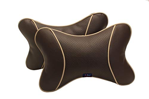 Autofurnish Car Pillow Neck Rest (Hecta-6740) - Set of Two