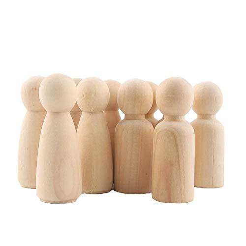 ne pflock Puppe Menschen Form Holzfigur Spielzeug Puppe DIY Holzfiguren Figurenkegel Spielfiguren ()
