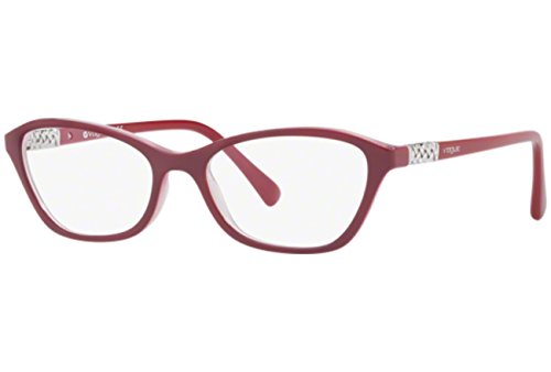 VOGUE Optical Frames Frame TOP RED/OPAL PINK WITH DEMO LENS