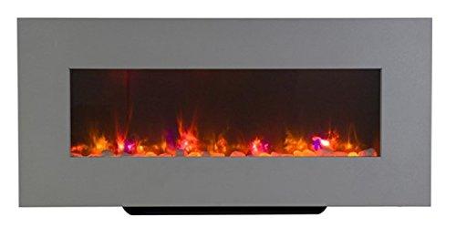 Livin Flame LED Elektro Kamin Newton, 98 x 45 x 14 cm aus Dem Hause, Inklusive Wandmontage Kit -