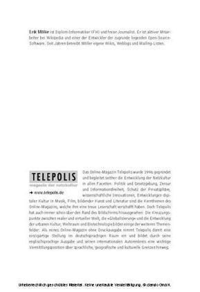 Möller, Erik:Die heimliche Medienrevolution. Wie Weblogs, Wikis und freie Software die Welt verändern