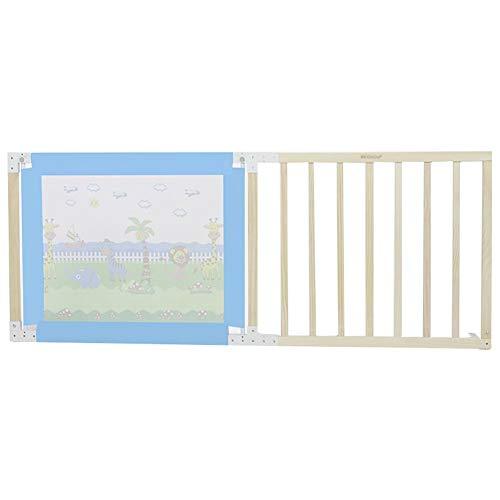 Laufgitter Laufstall Baby Holz Sicherheit Kleinkinder Bettgitter Guards für Twin Bed & King Size Bett, verstellbare Boden Baby Play Fence für Kinder (Farbe : Blau, größe : 1.8m) -