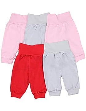 TupTam Unisex Baby Pumphose Jogginghose Baumwolle 5er Pack
