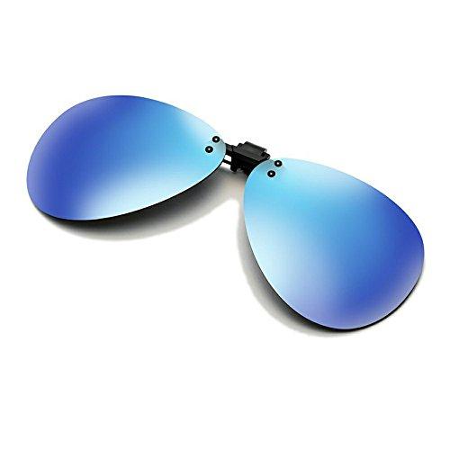 Cyxus Flash aviateur classique Verres Miroir Lunettes de soleil polarisées à clipser Verres Correcteurs [anti-reflet Protection UV] de conduite/lunettes de pêche, Hommes et femmes Bleu Bleu