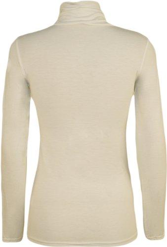 WearAll - Haut à manches longues à col roulé - Hauts - Femmes - Grandes tailles 44 à 54 Crème