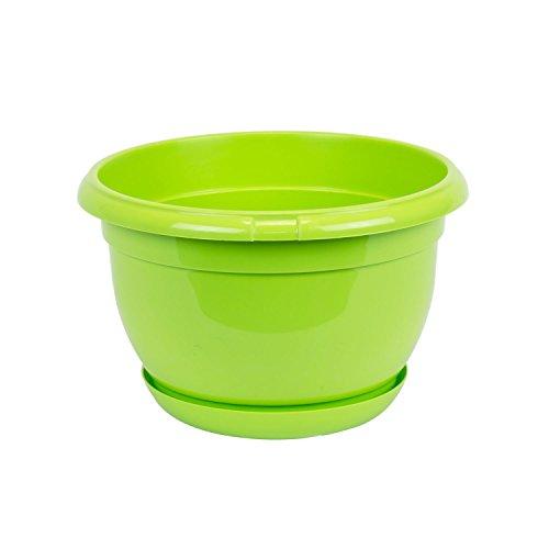 Pot de fleur plastique Malta 21 cm claire vert avec twist soucoupe