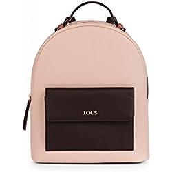 Tous Mochila Essence en color marrón-rosa