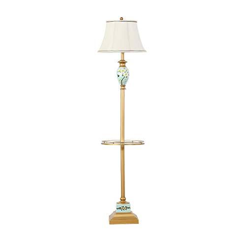 Nordic Couchtisch Vertikale Lampe Stehleuchte Wohnzimmer Sofa Sitzen Lichtschalter Pedal Typ Schlafzimmer Stehen Tischlampe Neue Chinesische (Color : Tray Foot Switch) -