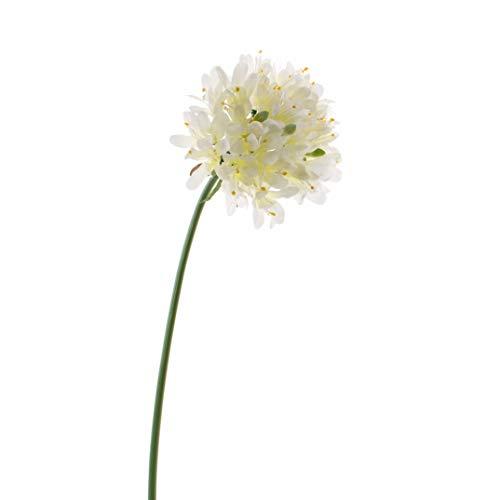artplants Set 12 x künstlicher Agapanthus MAILIN, Creme, 70 cm, Ø 13 cm – 12 Stück Künstliche Schmucklilie/Kunstblumen