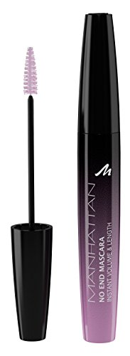 Manhattan No End Mascara Instant Volume & Length – Wimperntusche für endlos lange Wimpern mit ultimativem Volumen – Farbe Black 1010N – 1 x 8ml
