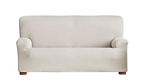 Eysa Ulises Elastic 4 Seat Sofa Cover, Ecru