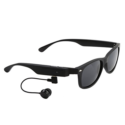 Koolertron Wireless Bluetooth V4.1+EDR Polarized Smart Music Sunglasses Headset Headphone Hands-Free Talk Voice Control For All Smart Phones or PC Tablets