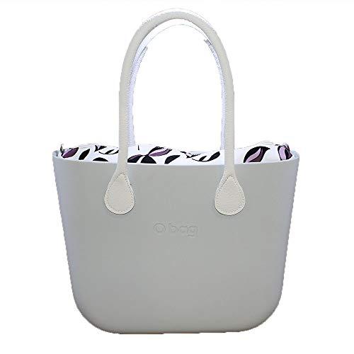 Obag borsa o bag grande latte sacca interna iris manico lungo bianco