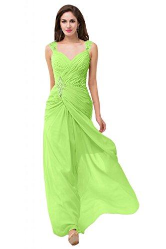 Sunvary in raso per abiti, in Chiffon, con uscita per damigella d'onore Pageant occasioni speciali rosa fucsia