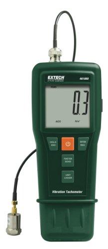 Extech Schwingungsmessgerät und Laser/Kontakt-Tachometer, 1 Stück, 461880 (Kontakt-tachometer)