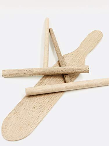 Kit crêpes (2 répartiteurs et 1 spatule) en bois made in Jura