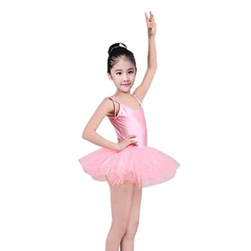Pink Puppen Ballett Tanzkleid Ballettanzug Turnanzug für 18 Zoll Mädchen Babypuppen & Zubehör Puppen & Zubehör