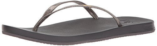 Reef Cushion Bounce Slim Pewter, Chanclas para Mujer, Gris Pew, 40 EU