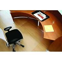 Rollsafe Bodenschutzmatte Hartb/öden 300x120cm transparent eckig