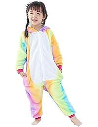 2f9fa0cbc3 GWELL Kinder Kostüme Tier Tieroutfit Cosplay Jumpsuit Schlafanzug Mädchen  Jungen Winter Nachtwäsche