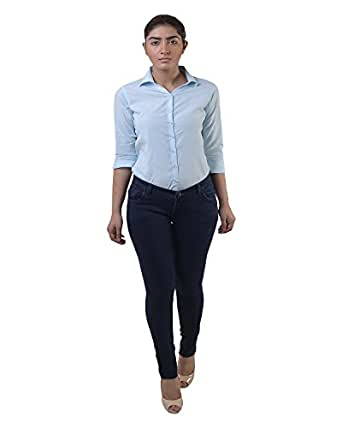 Lee Marc Women's Slim Fit Blue Jeans