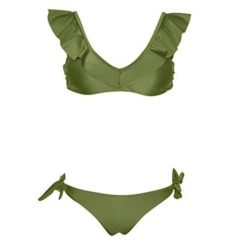 Bfmyxgs Mode Frauen Mädchen Schöne Zweiteiler Badeanzug Stilvolle Bikini Pushups Gefüllt Charming BH Bademode Beachwear Tankini Sets Bademode Monokini Badesätze