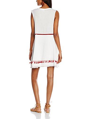 Somedays Lovin Damen Kleid River Tassel Boho Dress Weiß - Weiß
