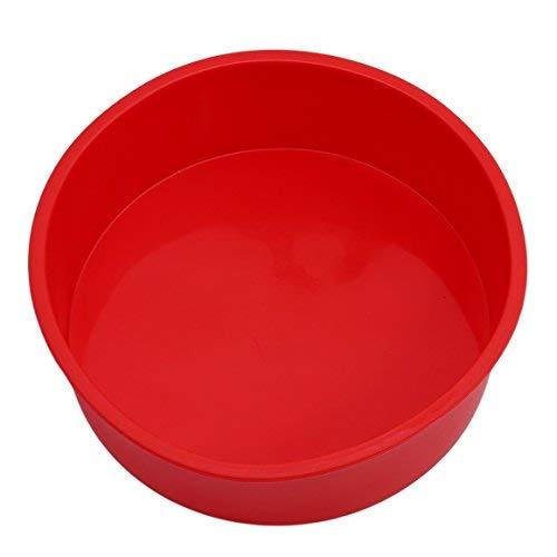 Runde Kuchenform Mikrowellenherd Cake Pan 6 inch,Rot ()