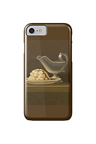 Gravy Boat - Thanksgiving Oil Painting (iPhone 7 Cell Phone Case, Slim Barely There) Natur Gravy Boat