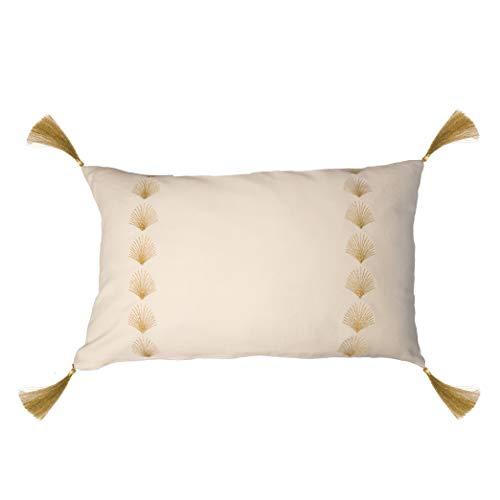 Febronie - Funda de cojín, algodón, Color Crudo, única ...