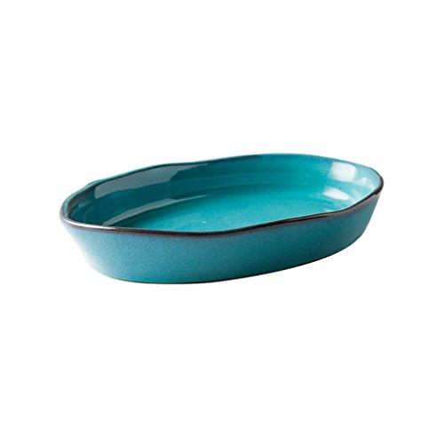 Yxsd Vaisselle en céramique créative Assiette à Fruits ménagère Western Assiette, 11,8 Pouces