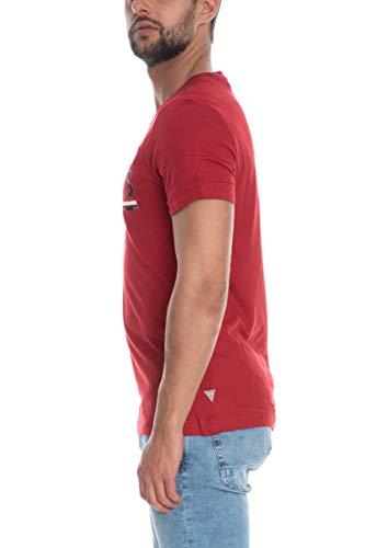 Guess T-Shirt geschrieben Vermutung - XL, DUNKELROT