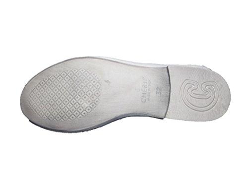 Cherie Kinder Schuhe Mädchen Ballerinas 7768 (ohne Karton) Weiß (weiß/blau)