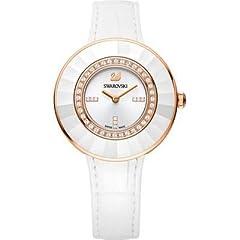 Idea Regalo - Swarovski 5182265 - Orologio da polso Donna, Pelle, colore: Bianco