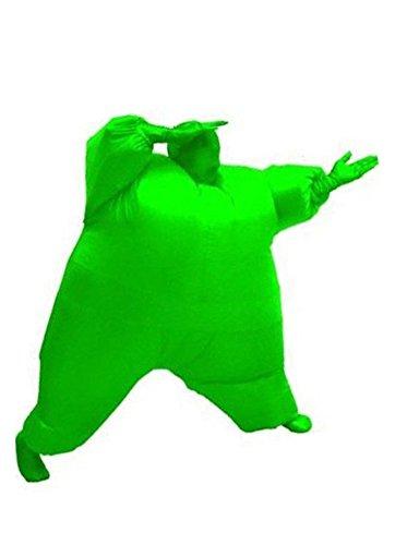 Luftschiff Kostüm Grüne - Aufblasbares Fett Dick Kleid Fasching Zweite Haut Anzug Karneval Luftschiff Kostüm Grün