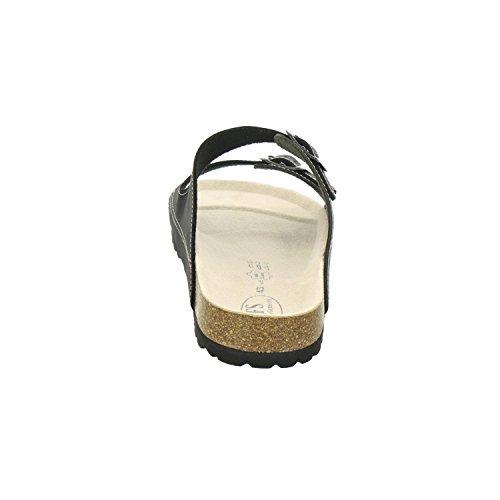 AFS-Schuhe 3110, sportliche Herren-Pantoletten, praktische Arbeitsschuhe, hochwertiges, echtes Leder, verstellbare Bio-Pantoletten, bequeme Hausschuhe, Made in Germany Oliv