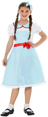 Dorothy Pet Kostüm - Fancy Me Mädchen Traditionelles Kansas Mädchen